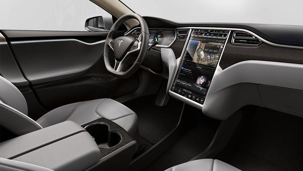 Model S interior