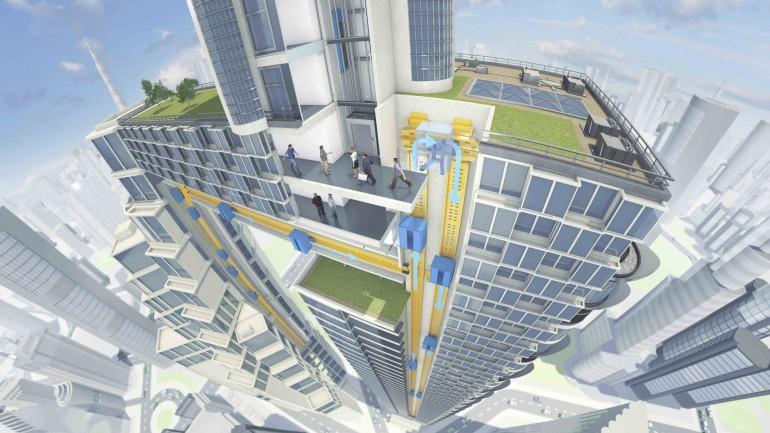 Multi – O elevador sem cabos e que se movimenta na horizontal