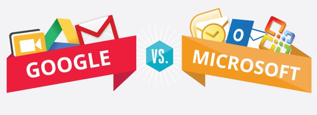Google vs Microsoft – Duas gigantes a lutar taco a taco