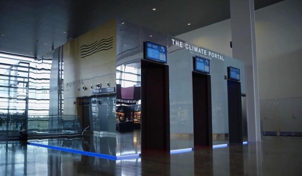 Aeroporto na Suécia simula o clima do destino do passageiro