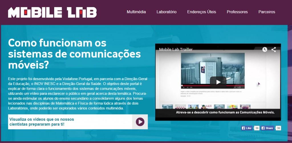 Vodafone: Site interativo ensina Matemática e Física