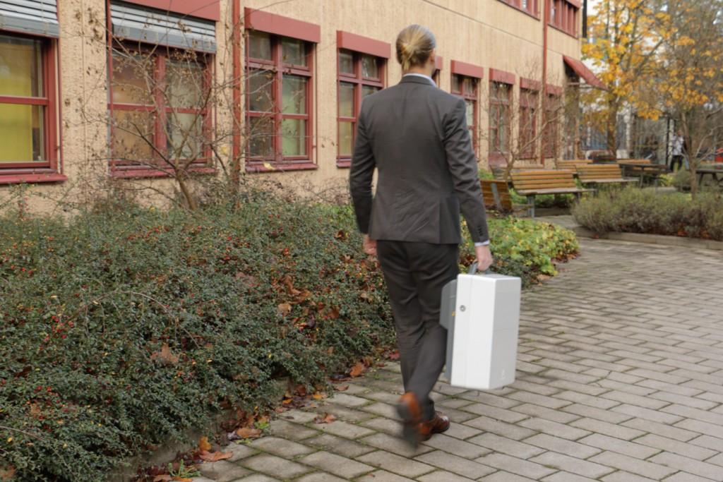 Ericsson 5G Radio Prototype - carry-on suitcase