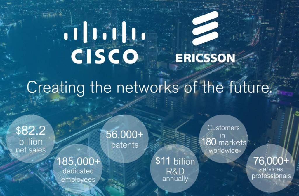 Ericsson e Cisco estabelecem parceria para criar redes do futuro