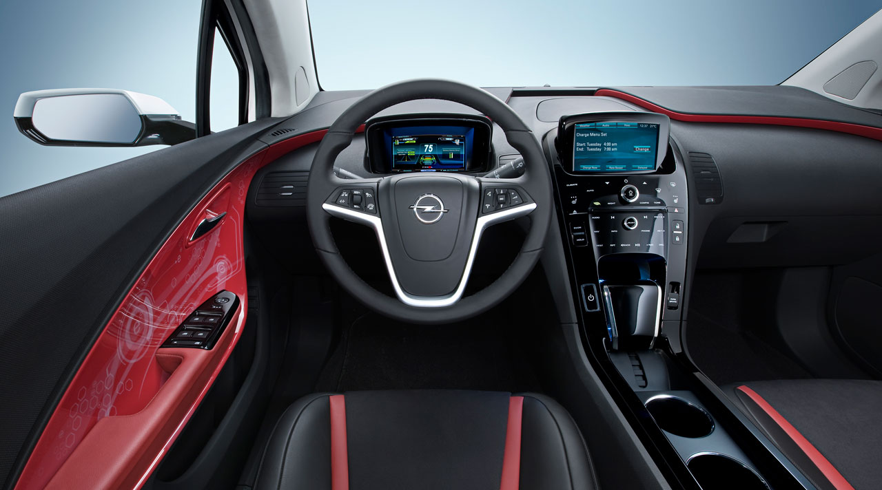 Interior do Opel Ampera-e