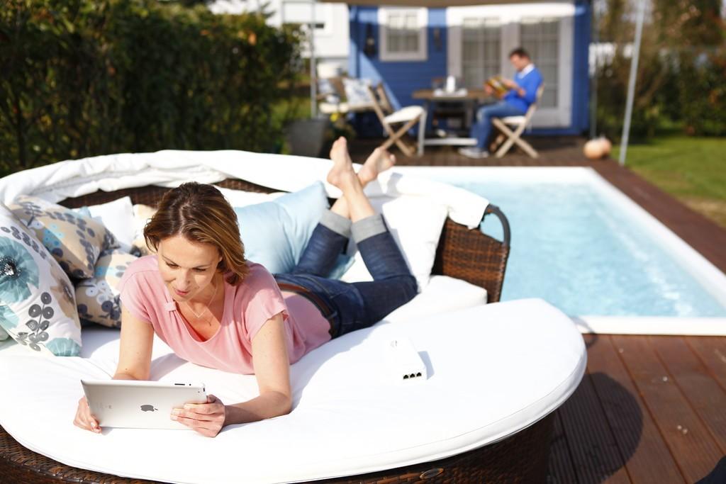 Navegar pela internet enquanto está no jardim?