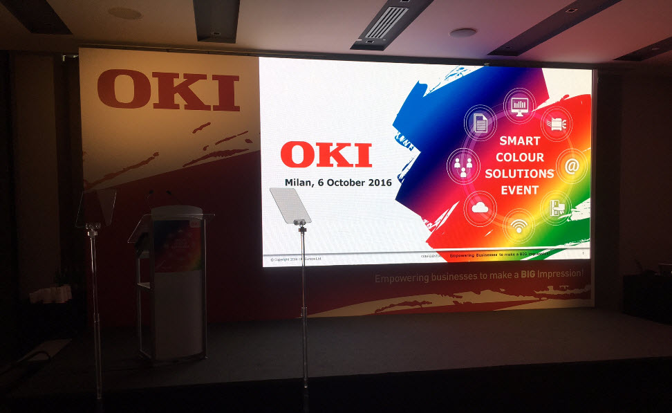 OKI realiza evento Smart Colour Solutions em Milão