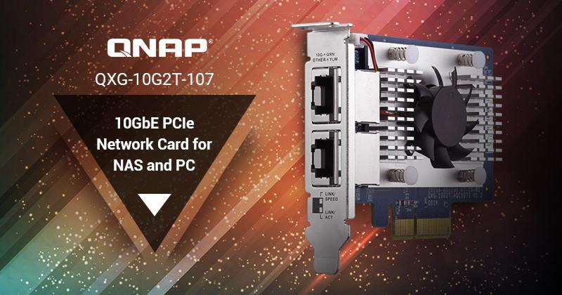 QNAP lança placa de rede 10GBASE-T para NAS ou PC