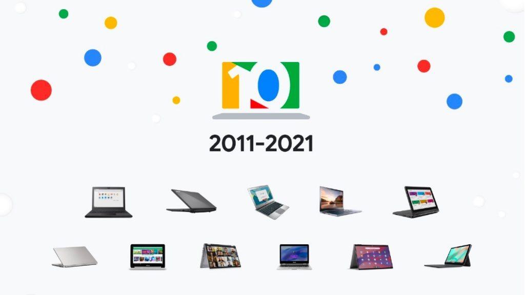 Google comemora 10 anos do Chromebook